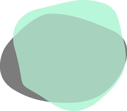 Mint green paint splotch with grey splotch overtop