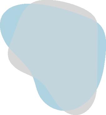 Pale blue paint splotch with grey splotch overtop