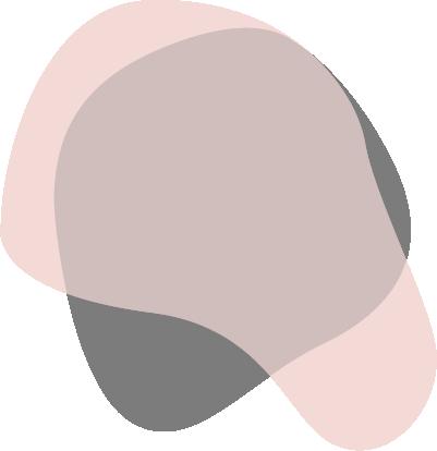 Pale pink paint splotch with grey splotch overtop
